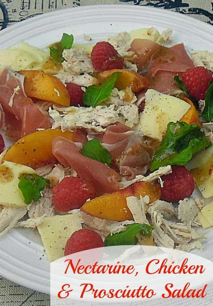 Nectarine Chicken and Prosciutto Salad