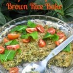 Spanakopita Brown Rice Bake