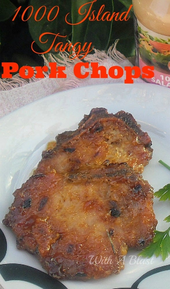 Most delicious, tender and tangy Pork Chops around ! The 1000 Island Dressing gives the chops a wonderful sweet/salty taste