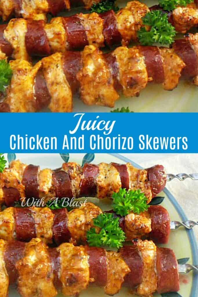 Chicken and Chorizo Skewers