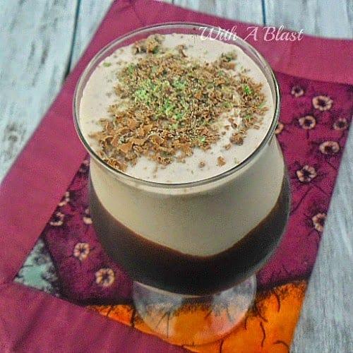 Choc-Mint Dom Pedro ~ Thick, chocolate/mint dessert drinks #DomPedro #AlcoholicDrinks #DessertDrink