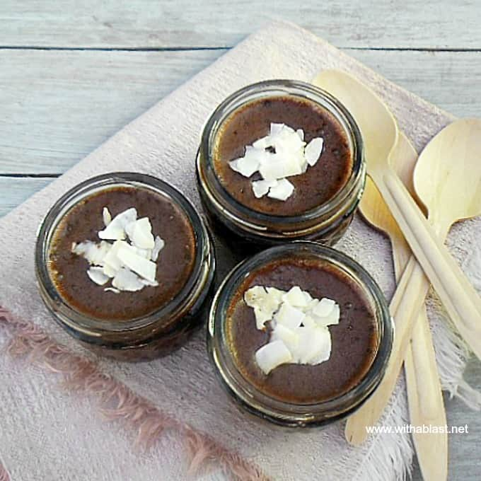 Chocolate Coconut Chia Pudding ~ Delicious, healthy Chocolate pudding and easy to make