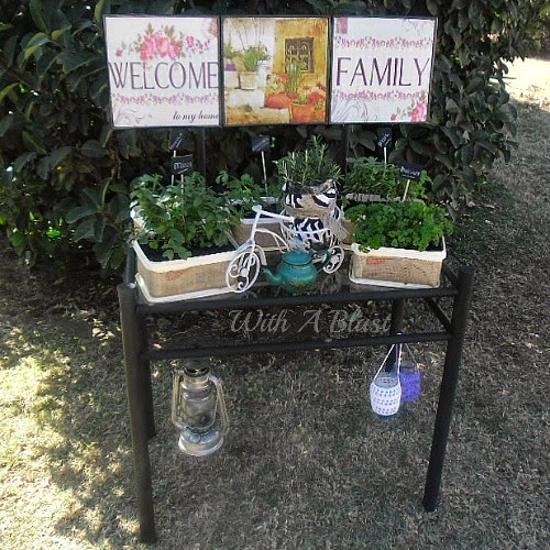 Dressing Table Turned Herb Garden ~ Turn an old dressing table into a Herb Garden easily #HerbGarden #Recycling #RepurposedCraft #DIY #Gardening