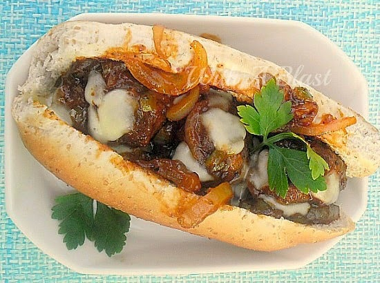 Juicy delicious Italian Meatball Sliders with melted Mozzarella topping ! So good to serve on Game Day or for lunch and great as a light dinner as well