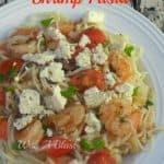 Mediterranean Shrimp Pasta {Guest Posting at My Turn For Us}