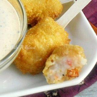 Shrimp Croquettes with Lemon Pepper Dip