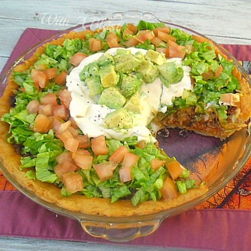 Taco Pie with Mashed Potato Crust