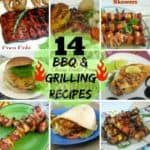 14 BBQ and Grilling Recipes round-up includes not only the main BBQ and Grilling recipes, but also the best marinade in existence, breads, various kebabs and more !