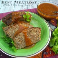 Best Meatloaf With A Chutney Sauce