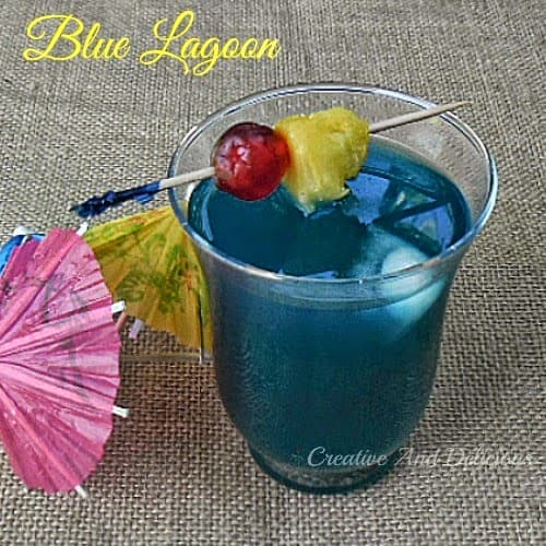 Blue Lagoon ~ Delicious, fun cocktail for any occasion ! #BlueLagoonCocktail #DrinkRecipe #AlcoholicDrink