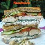 Chicken and Cottage Cheese Sandwich