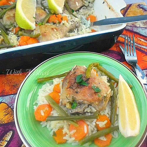 Lemon Chicken and Rice Casserole