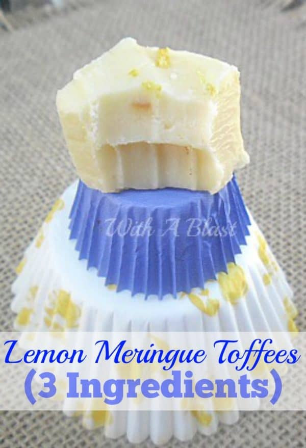 Only 3 everyday pantry ingredients needed to make these creamy, delicious Lemon Meringue Toffees and it really tastes like Lemon Meringue !