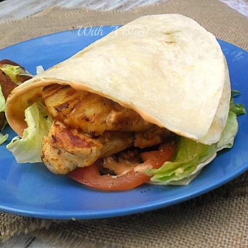 Mojo Chicken Tortilla Burger
