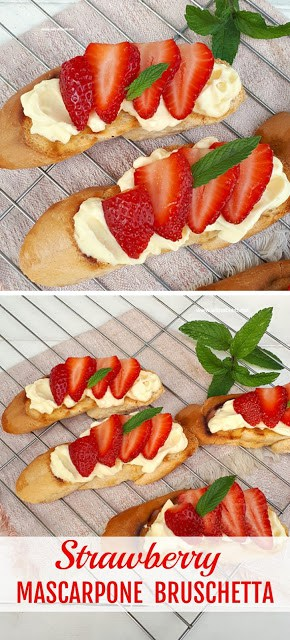 Strawberry Mascarpone Bruschetta