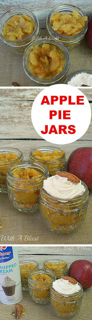 All time popular Apple Pie, but in a Jar ! No-bake, no-fuss with these buttery, syrupy, spicy desserts