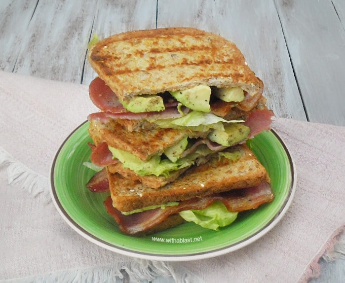 Bacon Lettuce Avocado Sandwich also known as The B.L.A. is a simple, but delicious sandwich, loaded with Bacon, Lettuce and Avocado and perfect for lunch or brunch !