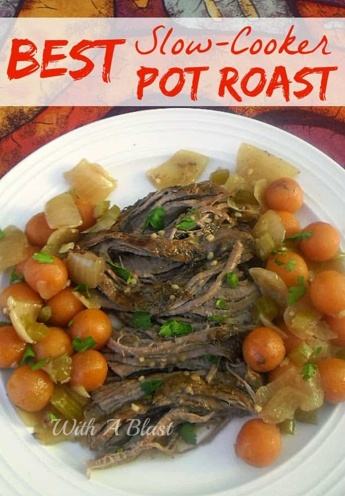 Best Slow-Cooker Pot Roast ~ Tender, juicy beef with vegetables all cooked in the slow-cooker #BeefRoast #Casserole #PotRoast #SlowCooker