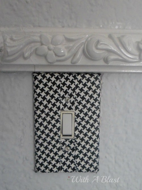 Light Switch Plate covered in #DuctTape #Crafts #DIY