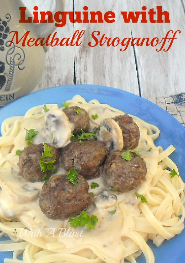 Linguine with Meatball Stroganoff