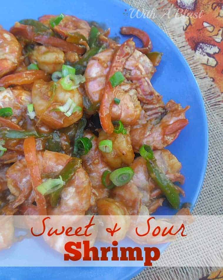 The BEST Sweet & Sour Shrimp by far ~ covered in a thick, sticky, scrumptious sauce