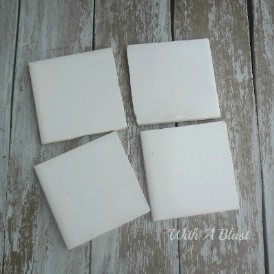 10 Minute Tile Coasters ~ Quick, easy, waterproof and strong Coasters with Duct Taped tiles ! #DuctTape #Coasters #Crafts