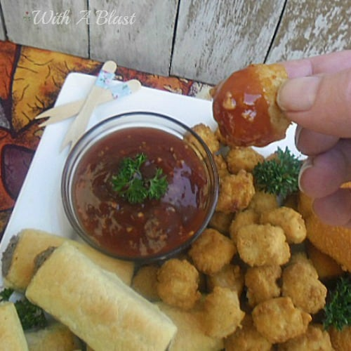 BBQ Snack Dip ~ Tangy, slightly sweet thick BBQ Dip to serve with just about any snack ~ Sausage Rolls, Chicken Nuggets, Crumbed Fish and more ! #Dips #BBQDip #GameDayFood