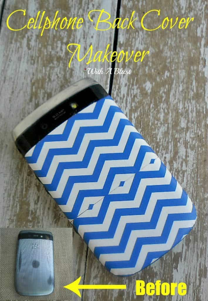 Cellphone Back Cover Makeover ~ How to update your cellphone's back cover in under 10 minutes easily #DuctTape #Crafts