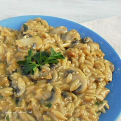 Orzo and Mushroom Casserole