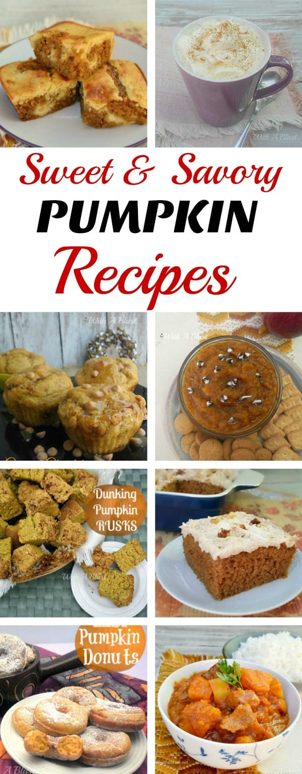 Favorite Pumpkin perfect for Fall recipes which our family has been making for years ! Including a drink recipe, meatless savory dish and easy Pumpkin desserts #PumpkinRecipes #PumpkinDessert #PumpkinDrink #PumpkinDinner
