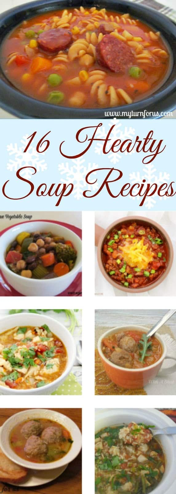 16 Hearty Soup Recipes all family tried, tested and approved - most are long time favorites and all perfect during Fall and Winter #SoupRecipes #HeartySoupRecipes #ComfortFood #Soup