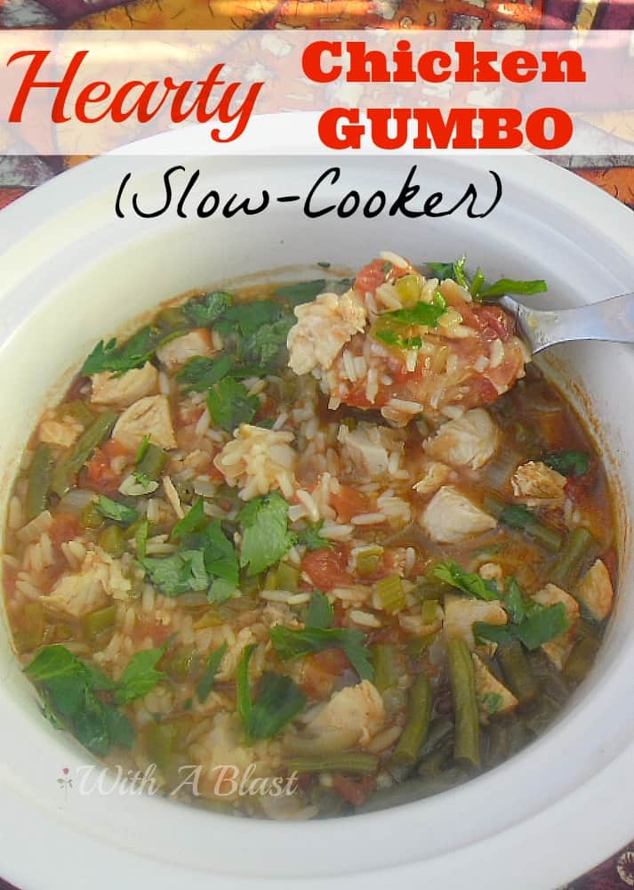 Scrumptiously warming, hearty Chicken Gumbo ~ perfect on a cold night and ready in 2 hours