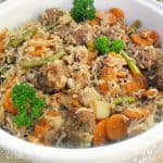 One-Pot Meatball and Rice Dinner