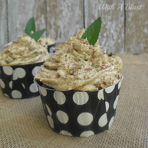 Peppermint Crisp Cupcakes