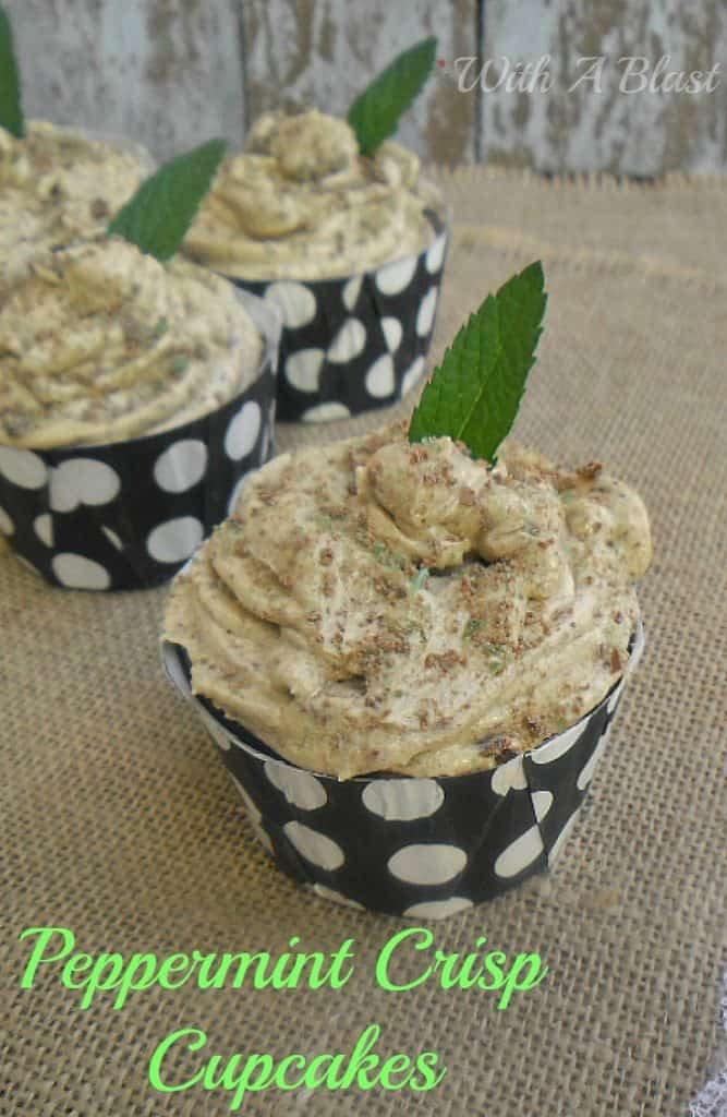 Peppermint Crisp Cupcakes are rich, moist and filled with Caramel and a frosting which tastes just like a Peppermint Crisp Tart !