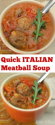 The perfect soup with delicious Italian meatballs recipe for a busy, cold chilly night