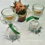 Easy Christmas Table Candle Decor