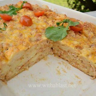 Make-Ahead Savory Bread Pudding Breakfast