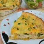 Salmon Green Bean and Spring Onion Quiche