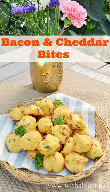 These mini Bites are fluffy and light, delicious served on it's own - great as an appetizer or at a party {Easy Dump & Bake Recipe!}