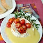 Baked Camembert with Honey Roasted Cherries