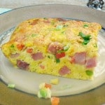 Christmas Breakfast : Ham Fritata