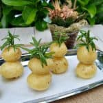 Garlic Potato Christmas Trees