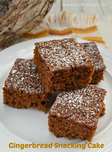 Rich, tasty Molasses, Gingerbread snacking cake which is moist, soft and even better the next day #Gingerbread #Cake