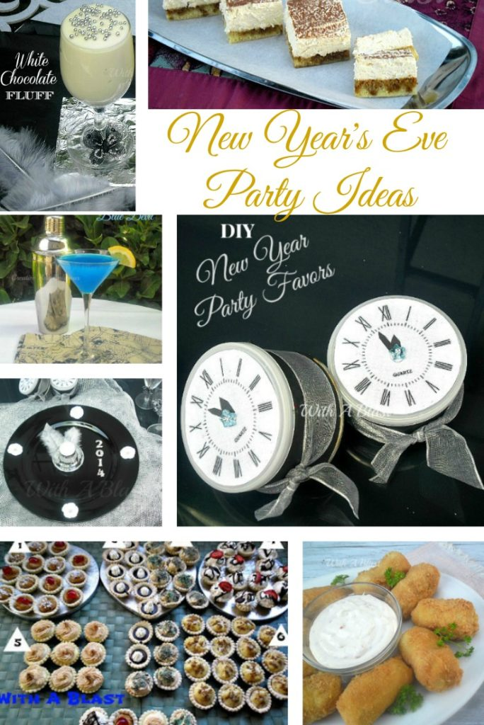 20 New Year's Eve Party Ideas ~ Cocktails, Snacks, Decor