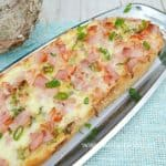 Bacon Garlic Bread Pizza