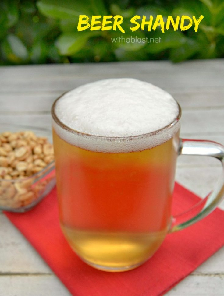 Beer Shandy made 3 ways !  Two ingredient beverage with three version - standard (alcoholic), light and non-alcoholic - perfect drink on game day ! #BeerShandy #BeerCockTail #GameDayDrink