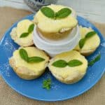 Lemon Cheesecake in Bread Bowls