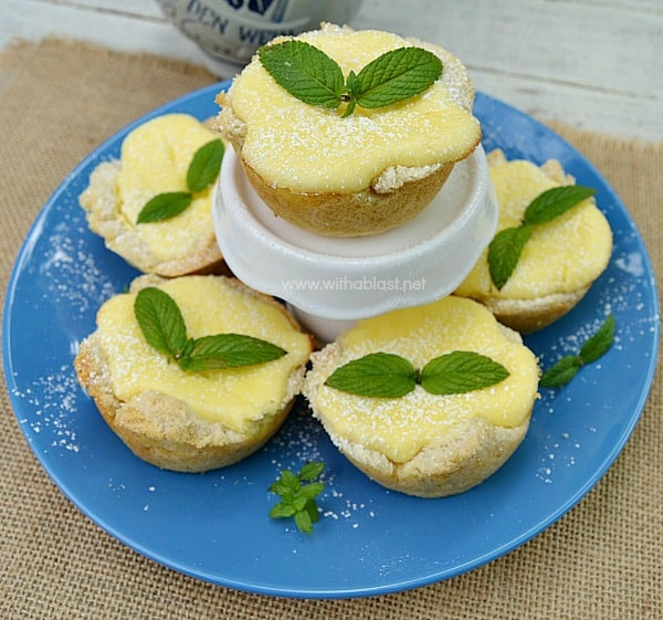 Lemon Cheesecake in Bread Bowls