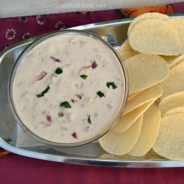 Onion Dip (From Scratch) ~ Making your own Onion Dip from scratch is EASY and so much tastier and fresher than pre-mixes or ready made dips ~ suitable for chips, biscuits and crudites